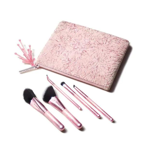 MAC Cosmetics Christmas 2020 Frosted Fireworks Collection Sparkler Starter Kit Brushes