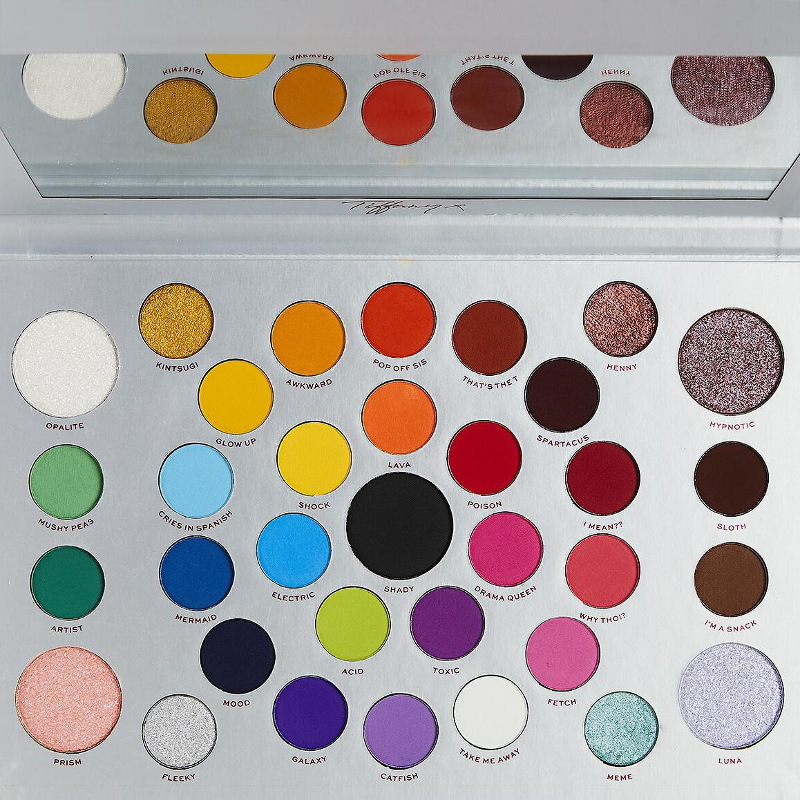 Makeup Obsession X Tiffany Illumin arty Kaleidoscopic Dreams Eyeshadow Palette Open Front Closer