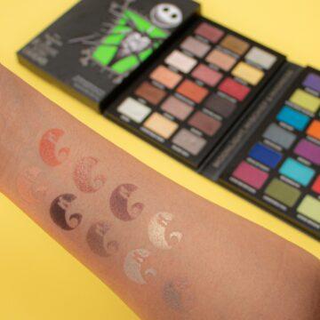 Makeup Revolution Disney Nightmare Before Christmas Eyeshadow Palette Jack Arm Swatch 1