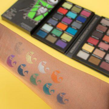 Makeup Revolution Disney Nightmare Before Christmas Eyeshadow Palette Jack Arm Swatch 2