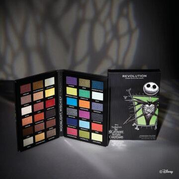 Makeup Revolution Disney Nightmare Before Christmas Eyeshadow Palette Jack Promo