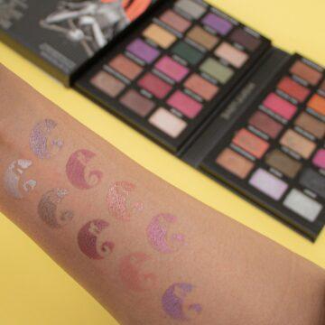 Makeup Revolution Disney Nightmare Before Christmas Eyeshadow Palette Sally Arm Swatch 2