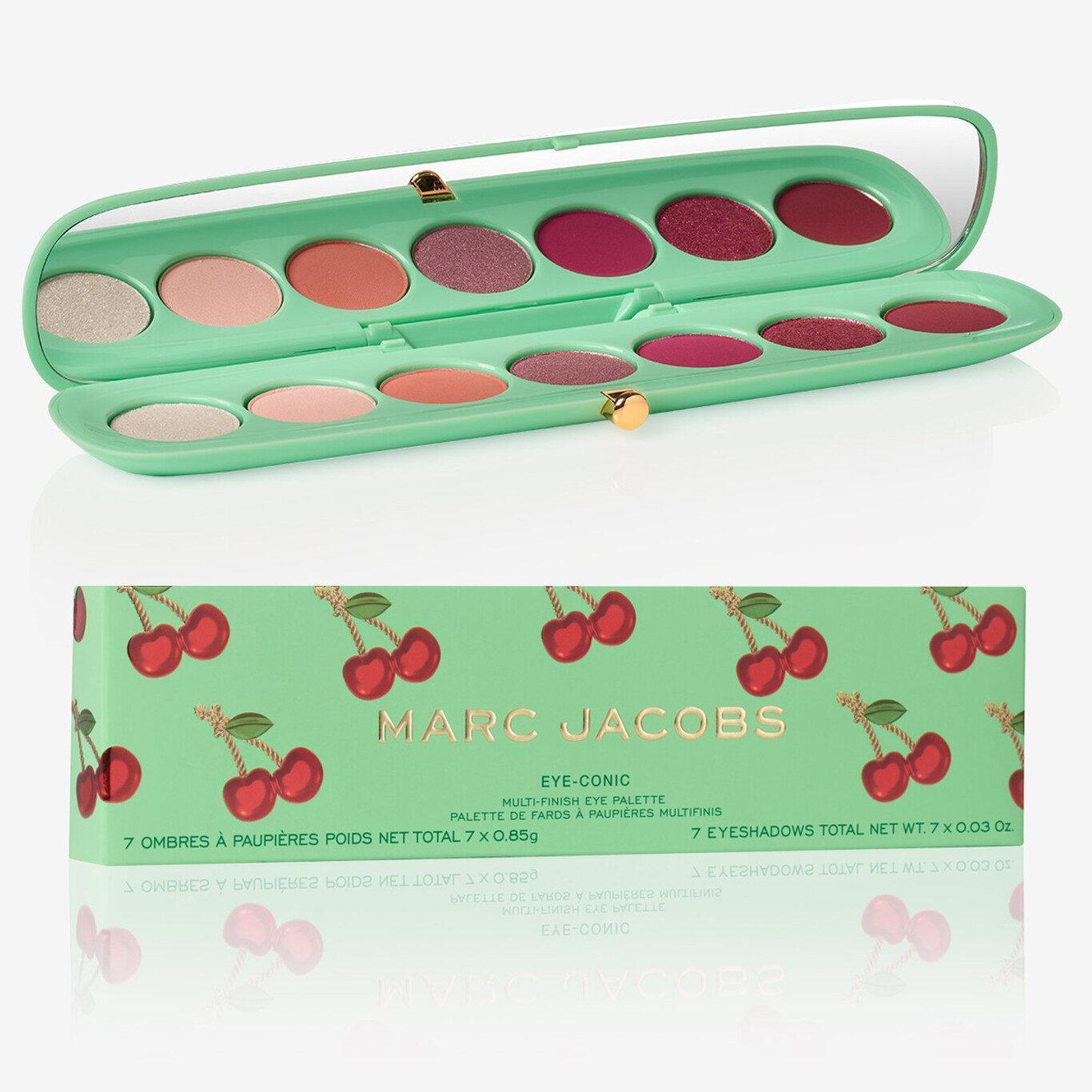 Marc Jacobs Very Merry Cherry Eye Conic Multi Finish Eye Palette Very Merry Cherry Edition Box