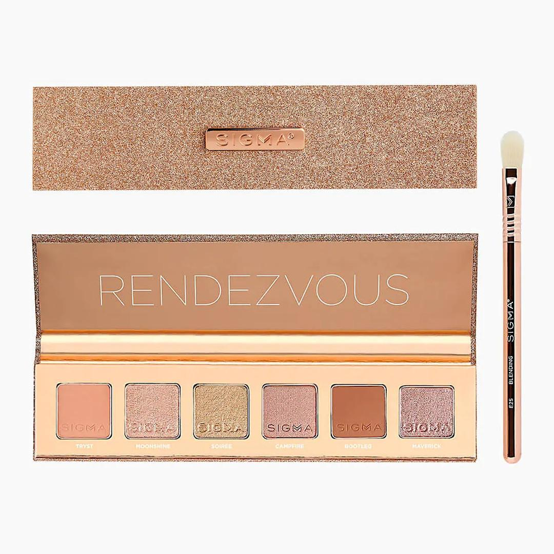 Sigma Beauty Rendezvous Holiday Collection Rendezvous Eyeshadow Palette Open & Closed