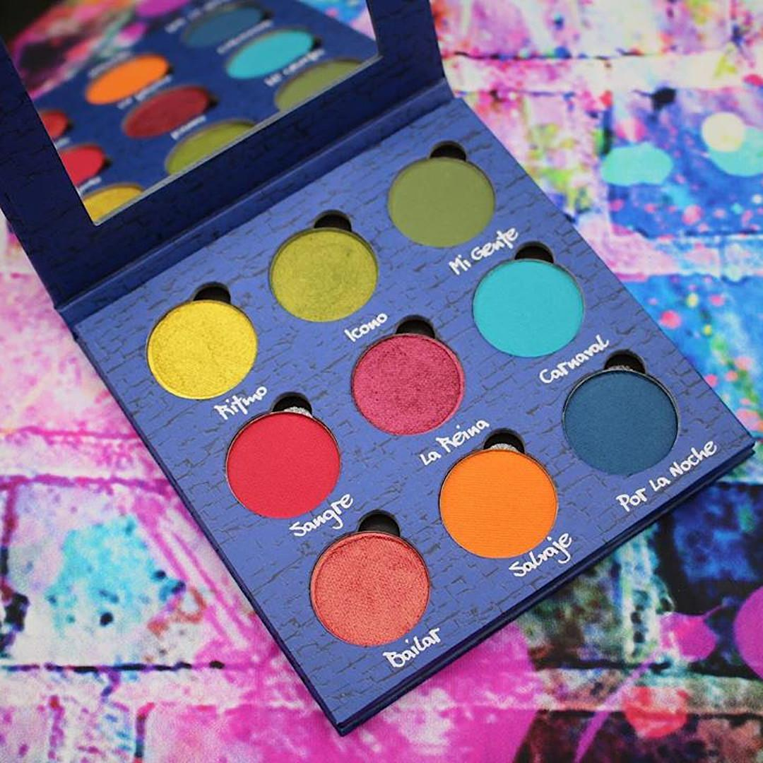 Terra Moons Cosmetics El Barrio Eyeshadow Palette Open