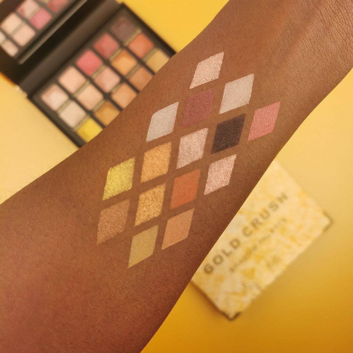 XX Revolution MetaliXX Collection MetaliXX Gold Crush Eyeshadow Palette Arm Swatches