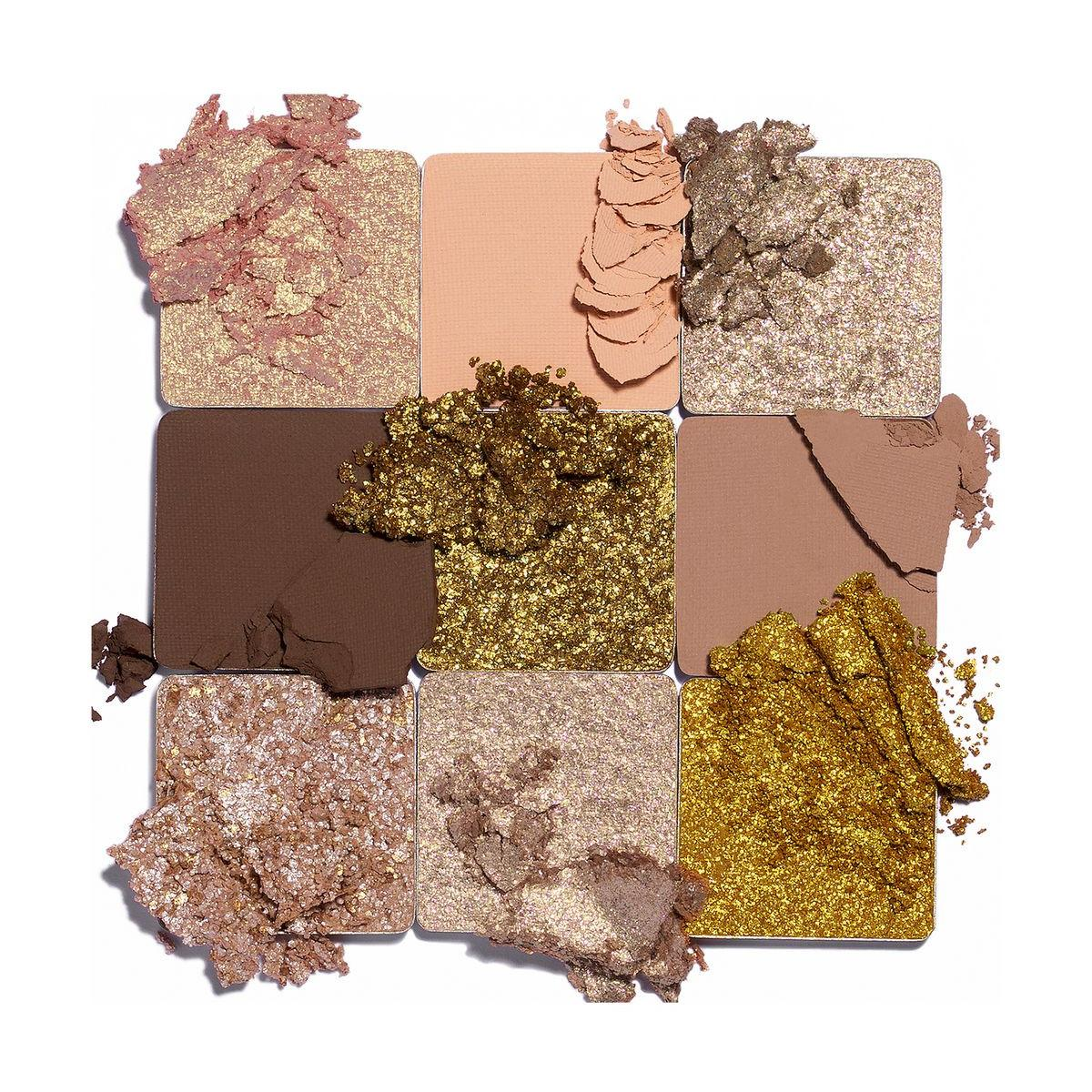 Huda Beauty Gold Obsessions Palette Crash Swatches
