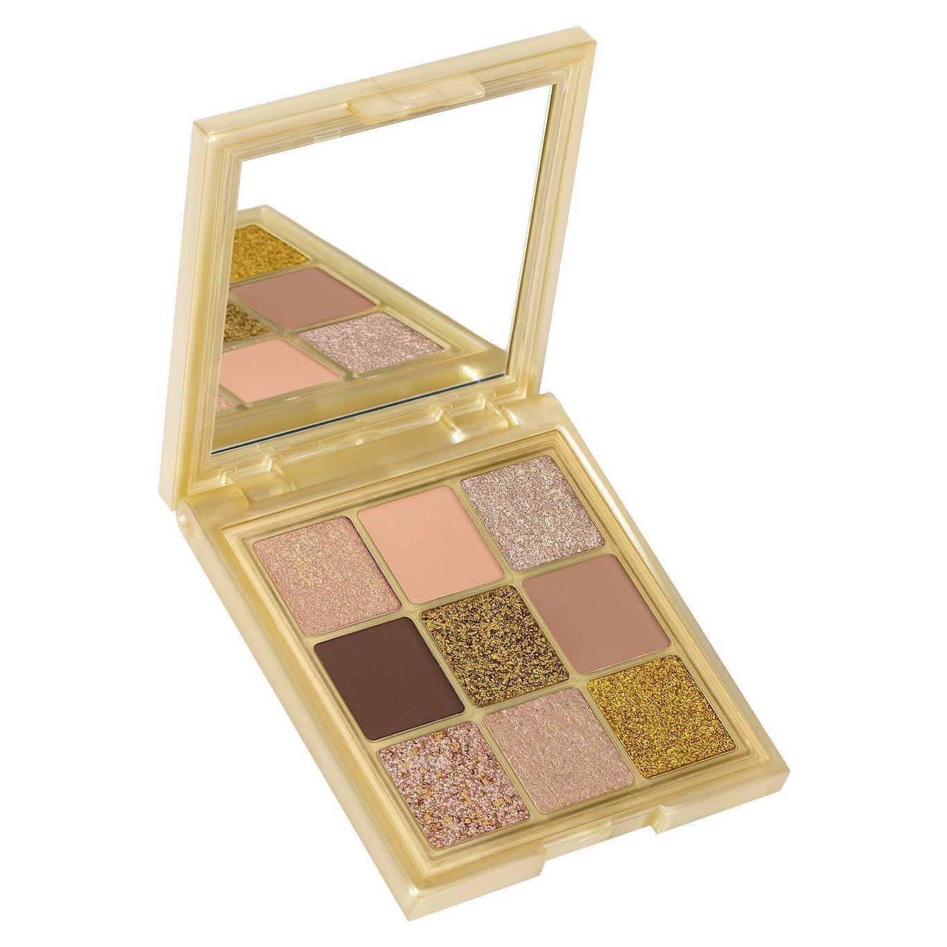Huda Beauty Gold Obsessions Palette Open Angled