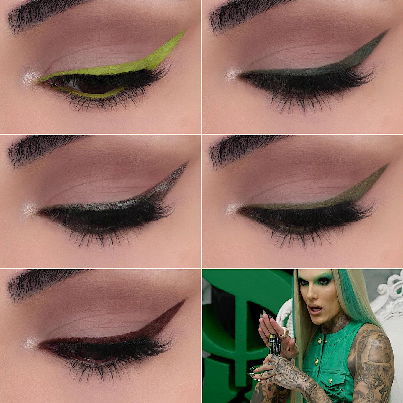 Jeffree Star Cosmetics Blood Money Collection Eyeliners Collage Video