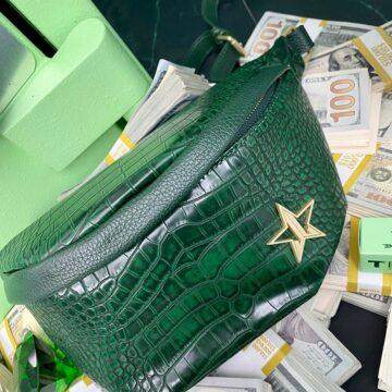 Jeffree Star Cosmetics Blood Money Collection Green Crocodile Cross Body