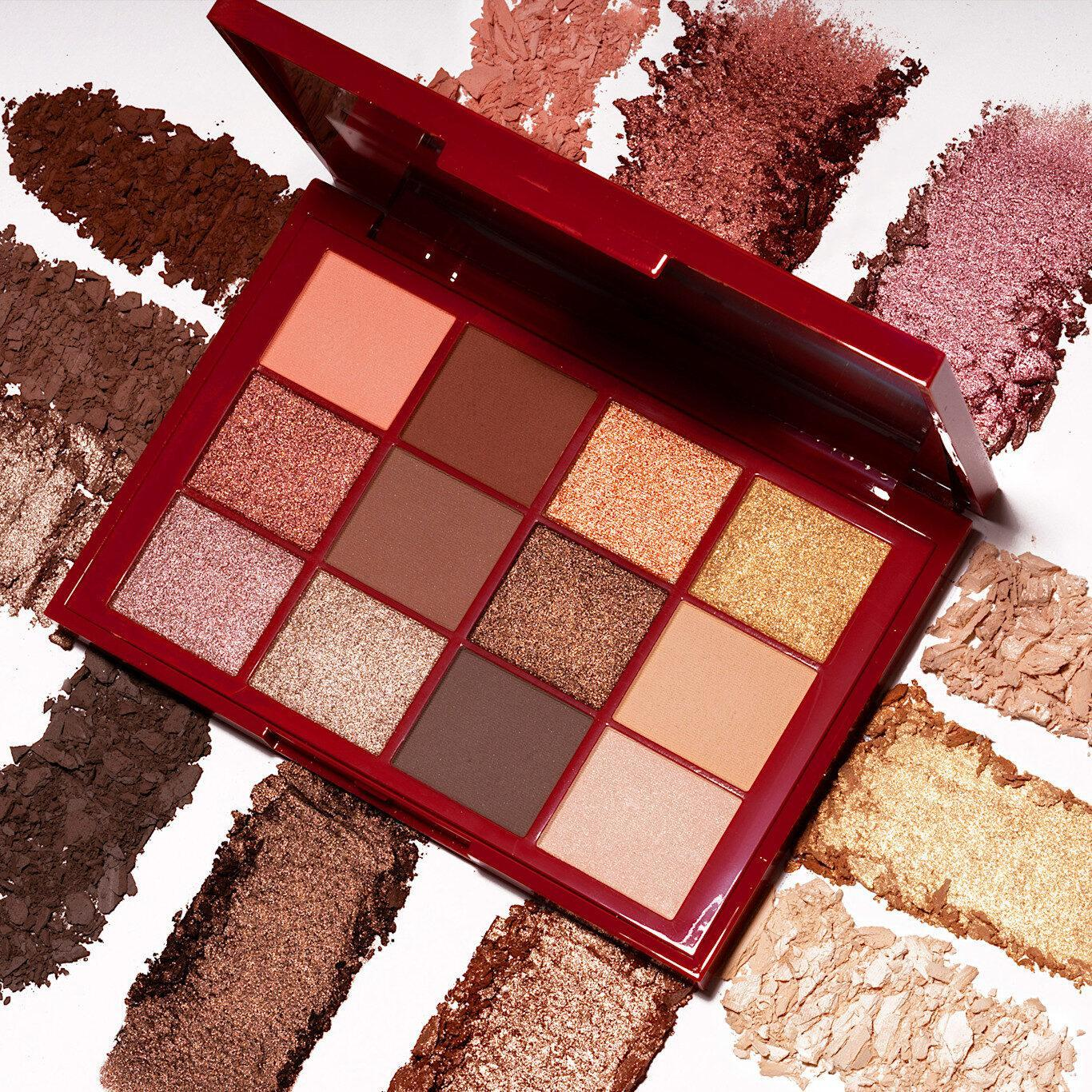 Lida Hallberg Cosmetics The New Golden 20´s Palette Open With Crash Swatches