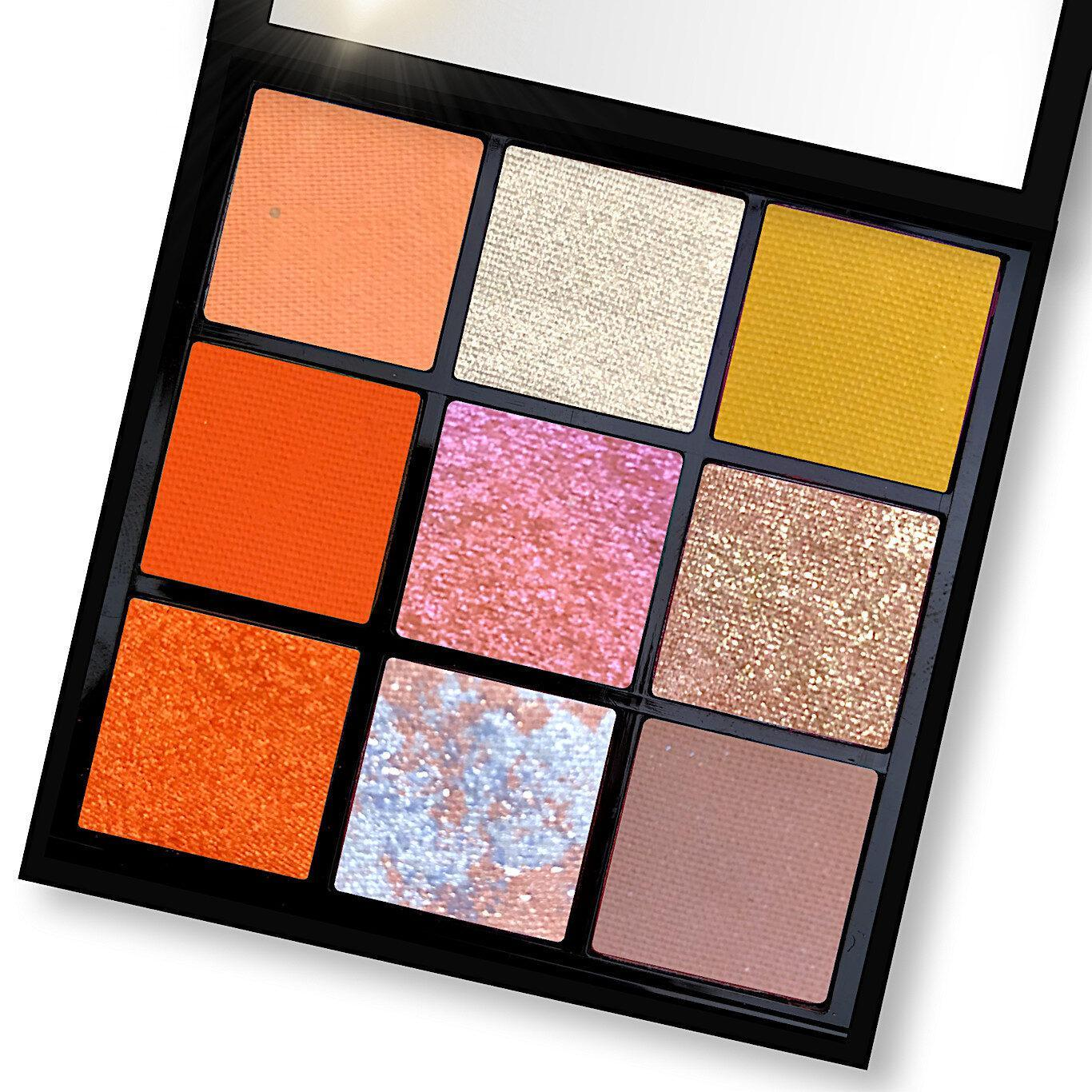 Love Luxe Beauty Pumpkin Coconut Eyeshadow Palette Open Angled
