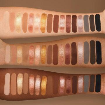 Nabla Cosmetics Side By Side Collection Side By Side Nude Palette Arm Swatches