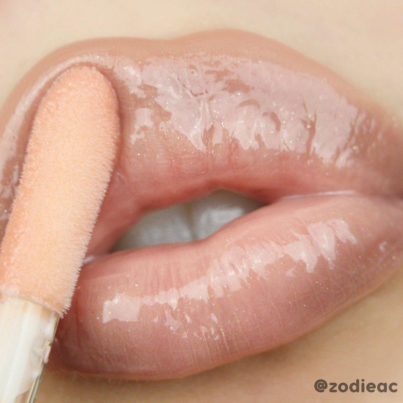 Raw Beauty Kristi x Colourpop Lux Gloss In Glacier Lip Swatch