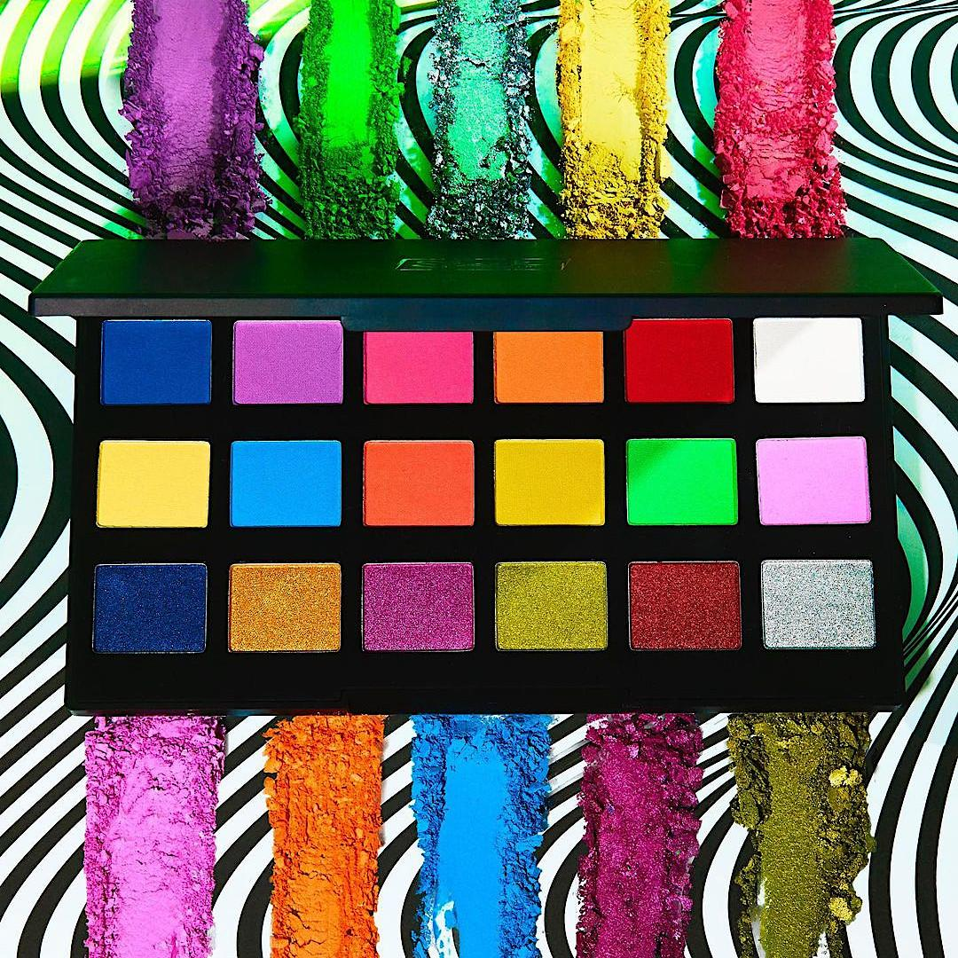 Sleek Makeup Lucid Dreams Collection Acid Bright Eyeshadow Palette Open With Crash Swatches Promo