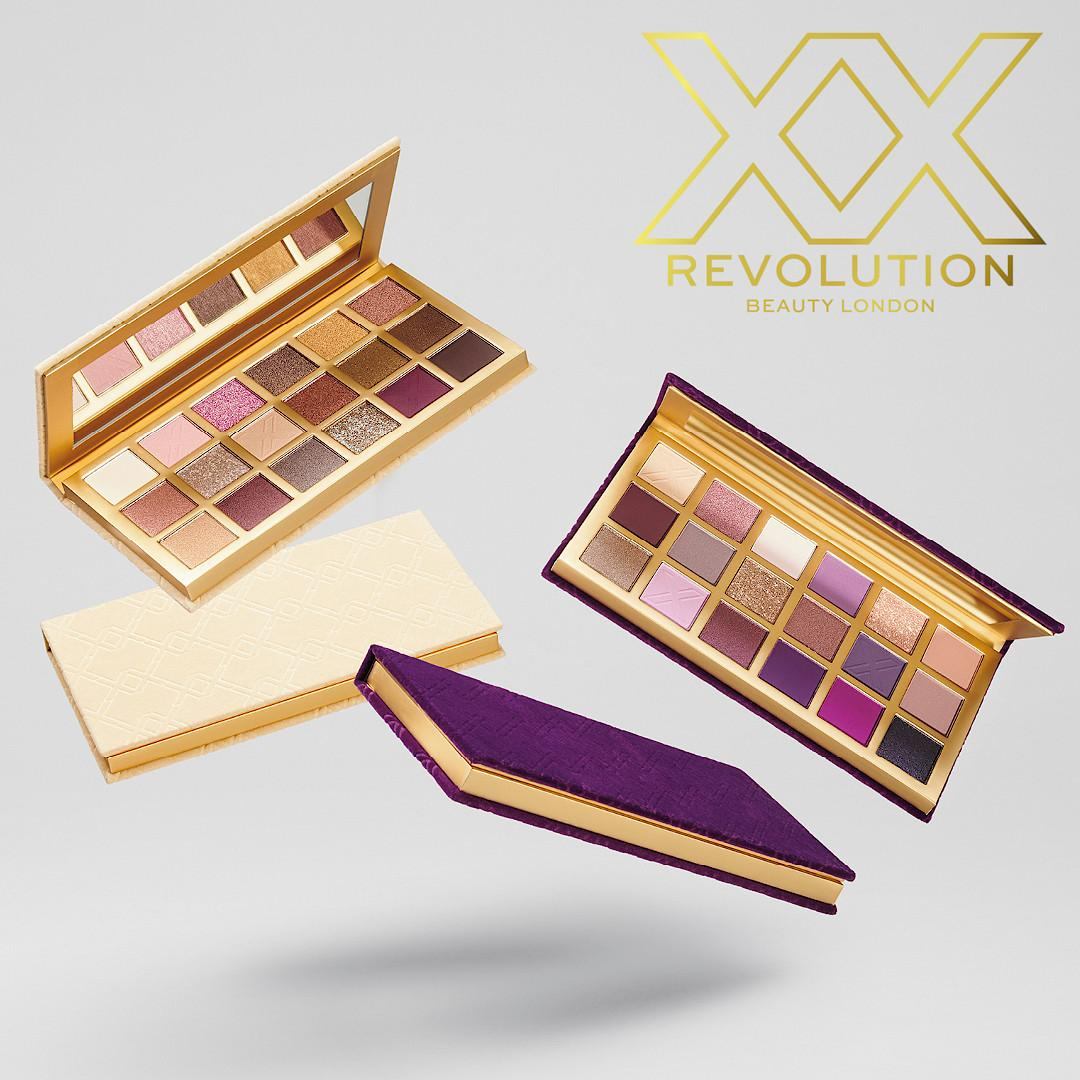 XX Revolution Bare LuXX & Decadent LuXX LuXX Eyeshadow Palettes Promo Post Cover Logo