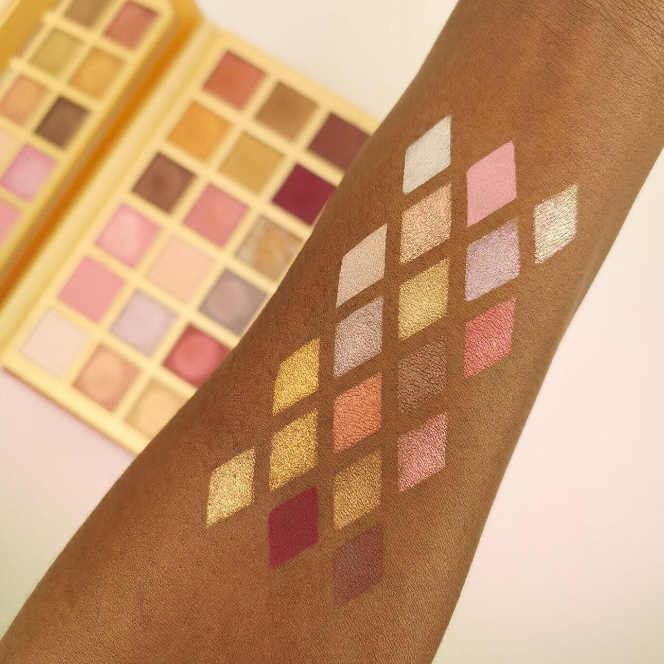 XX Revolution LuXX Eyeshadow Palette Bare LuXX Arm Swatches