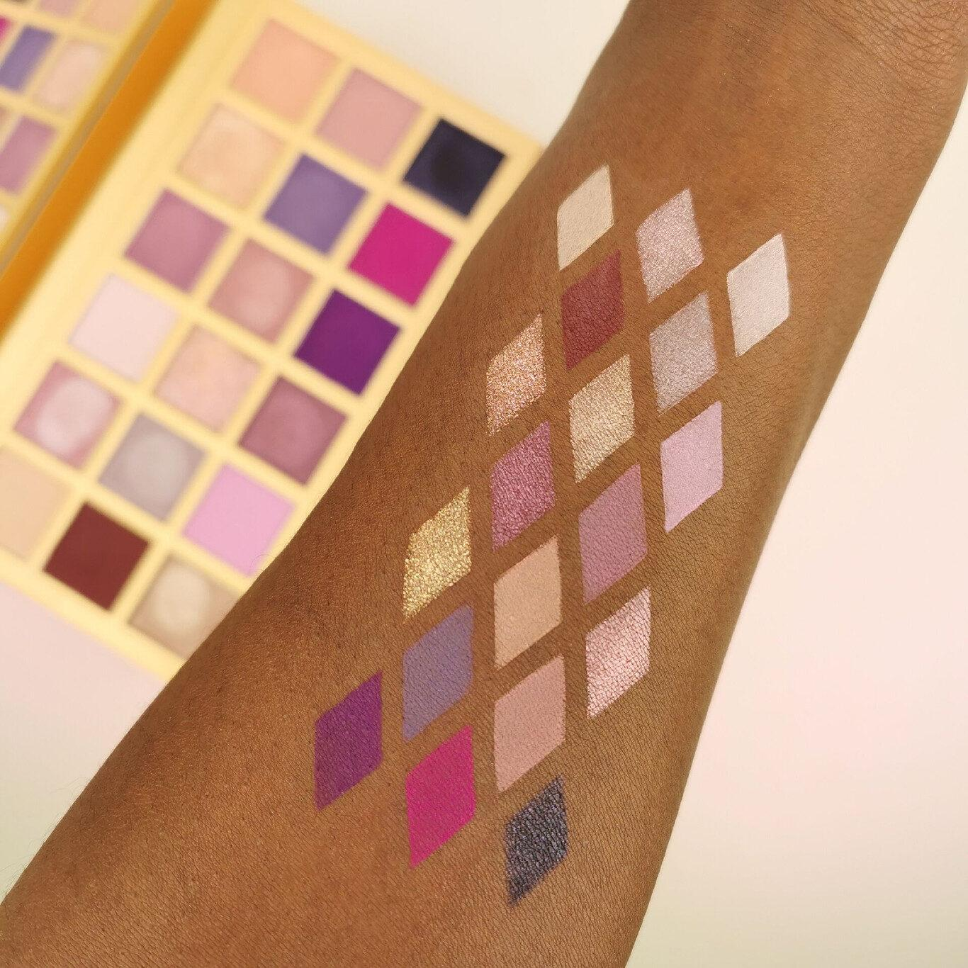 XX Revolution LuXX Eyeshadow Palette Decadent LuXX Arm Swatches