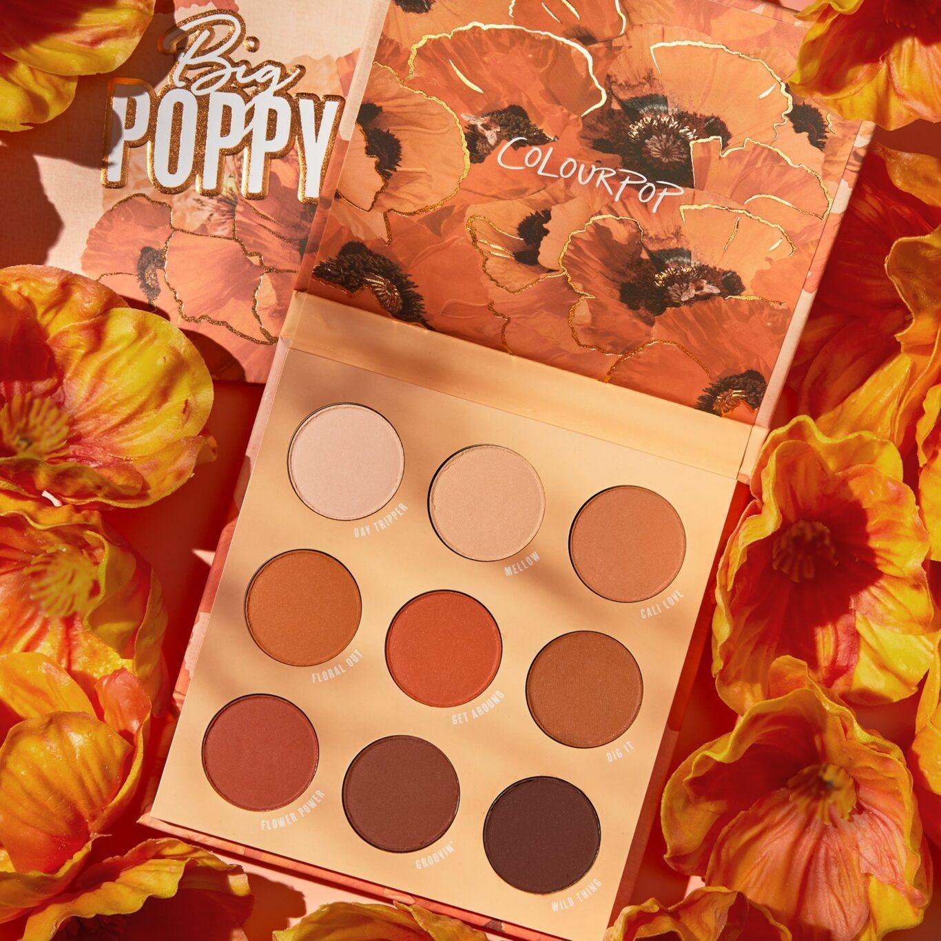 Colourpop Big Poppy Collection Big Poppy Eyeshadow Palette Promo
