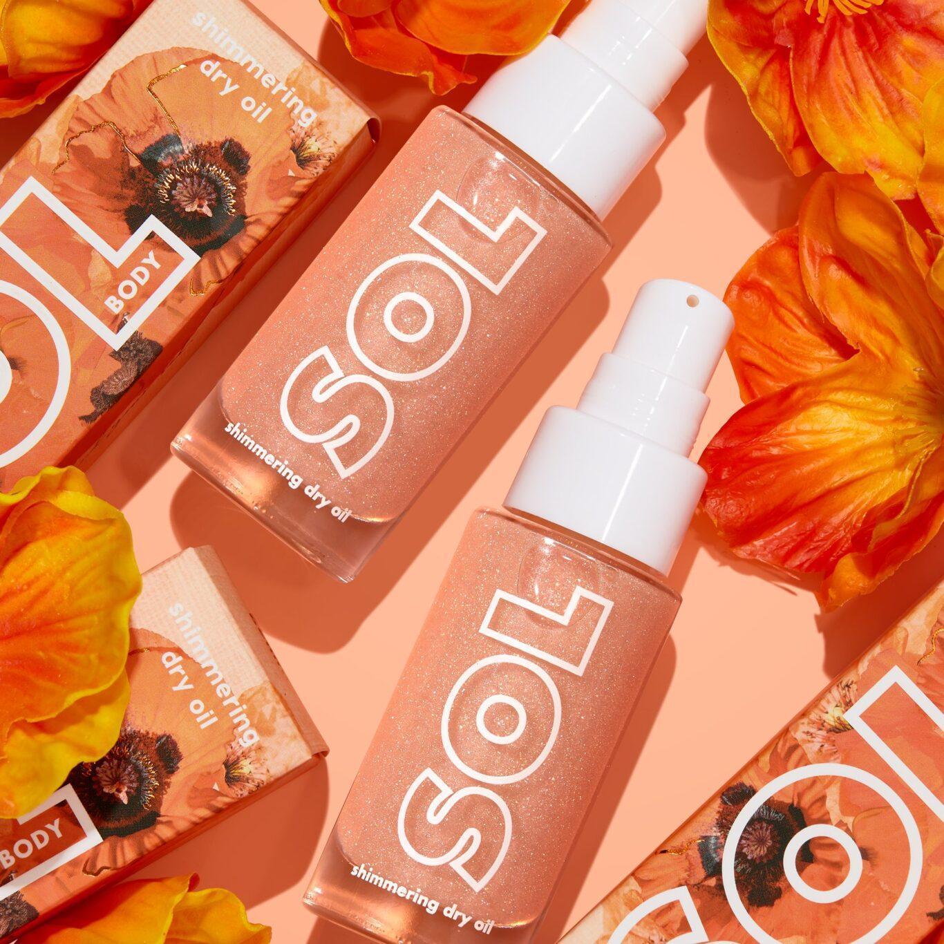 Colourpop Big Poppy Collection Peach Bellini Sol Shimmering Dry Oil Mini