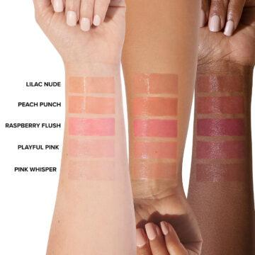 Too Faced Peach Bloom Color Blossoming Lip Balm Arm Swatches