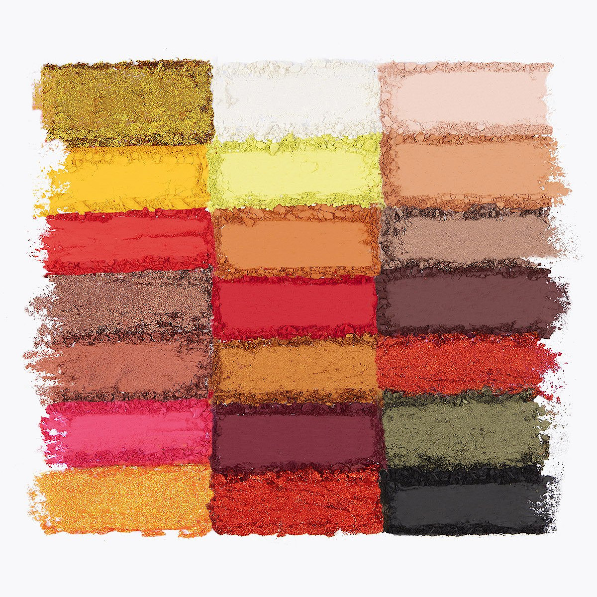 BH Cosmetics Lunar New Year 2021 Edit 21 Color Shadow Palette Crash Swatches