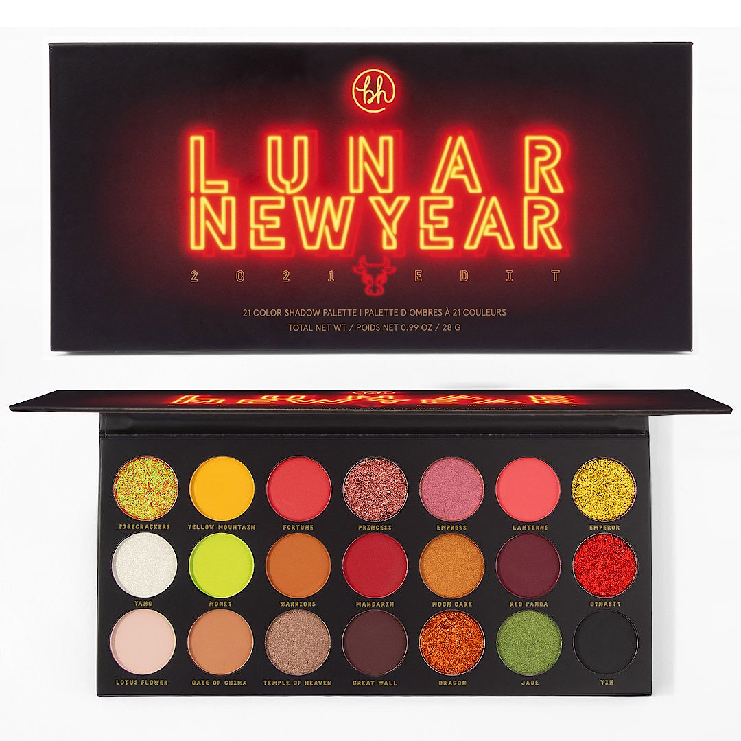 BH Cosmetics Lunar New Year 2021 Edit 21 Color Shadow Palette Open & Closed