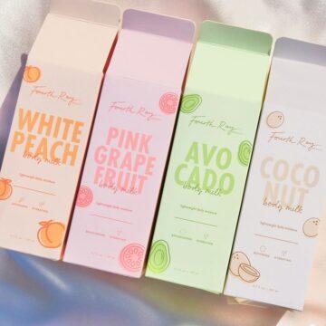Fourth Ray Beauty Body Milks Boxes