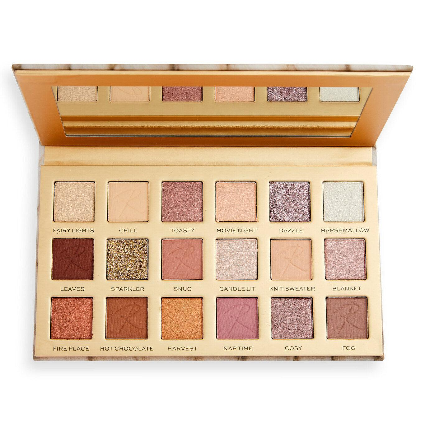 Makeup Revolution X Roxi Cosy Vibes Eyeshadow Palette Open