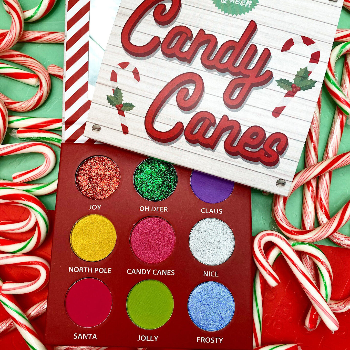 Peachy Queen Candy Canes Palette Open & Closed Promo