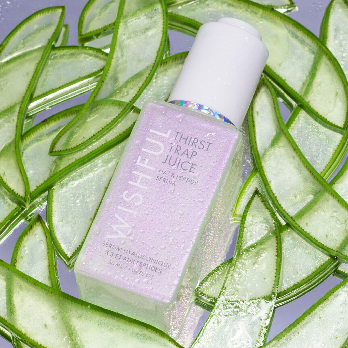 Wishful Skin Thirst Trap Juice HA3 Peptide Serum Closed With Aloe Promo
