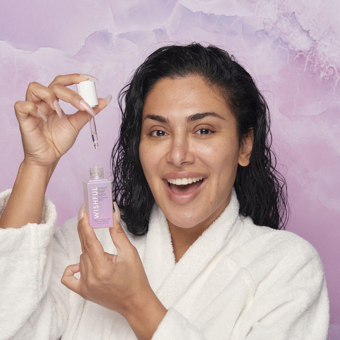 Wishful Skin Thirst Trap Juice HA3 Peptide Serum Huda Promo