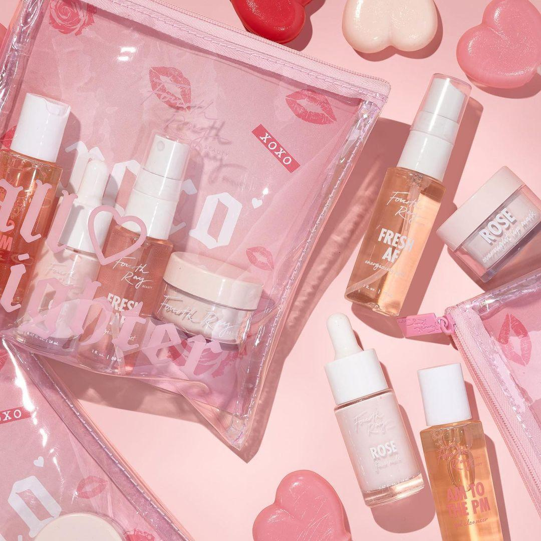 Colourpop Cosmetics Valentine's Day Collection 2021 Fourth Ray Beauty All Nighter Mini Skincare Kit Promo