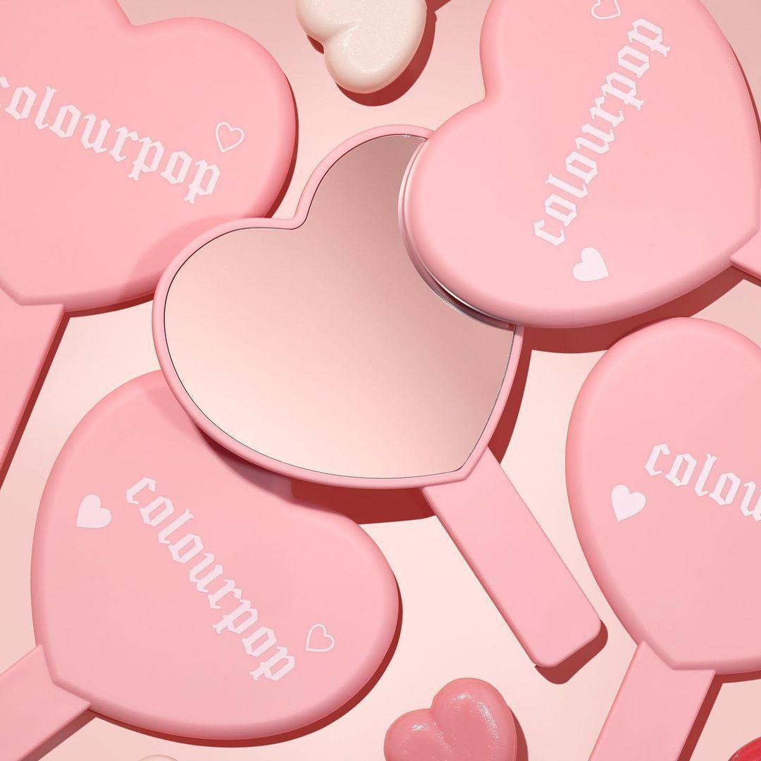 Colourpop Cosmetics Valentine's Day Collection 2021 Heart Mirror Promo