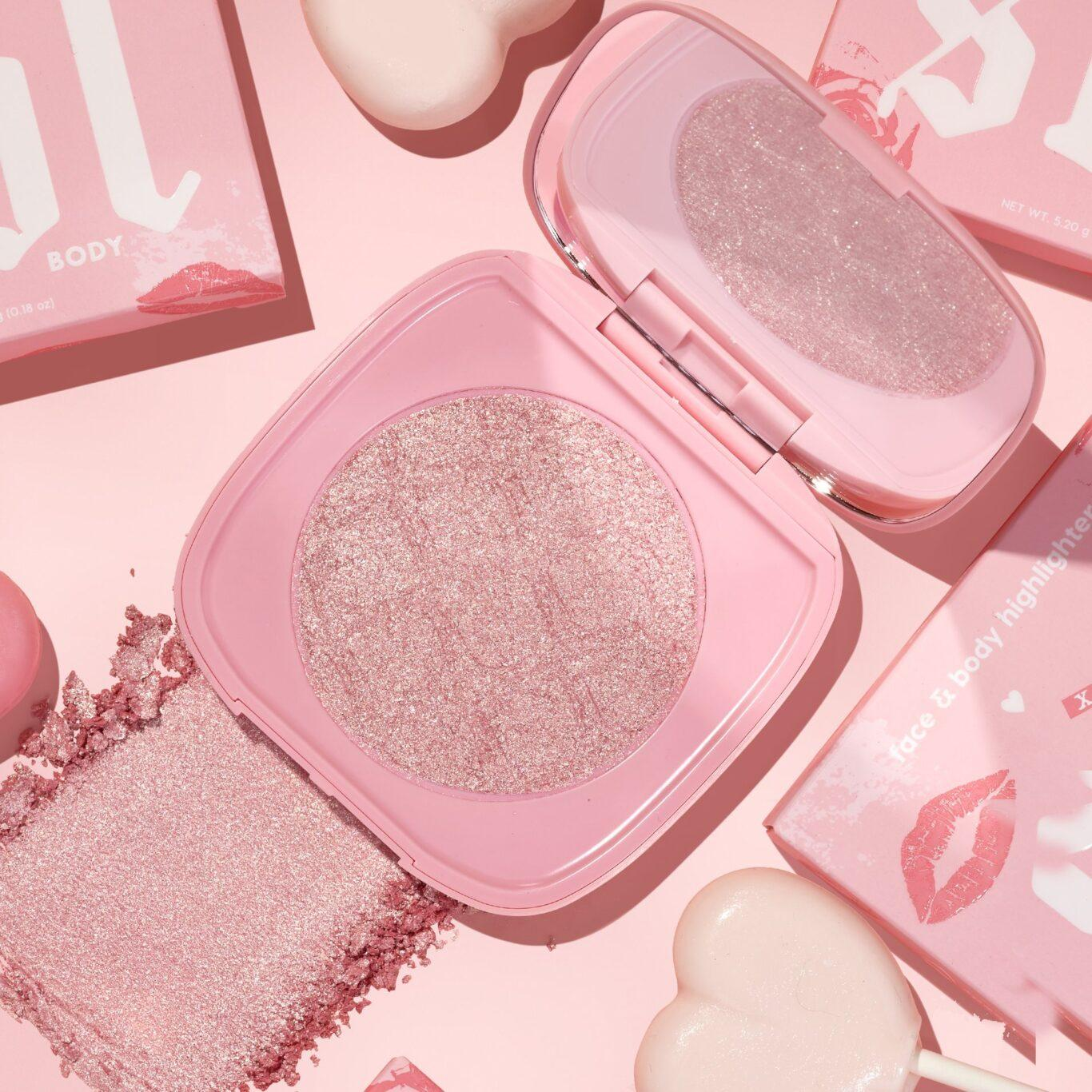 Colourpop Cosmetics Valentine's Day Collection 2021 SOL Body Pink Truffle Mini Face and Body Highlighter