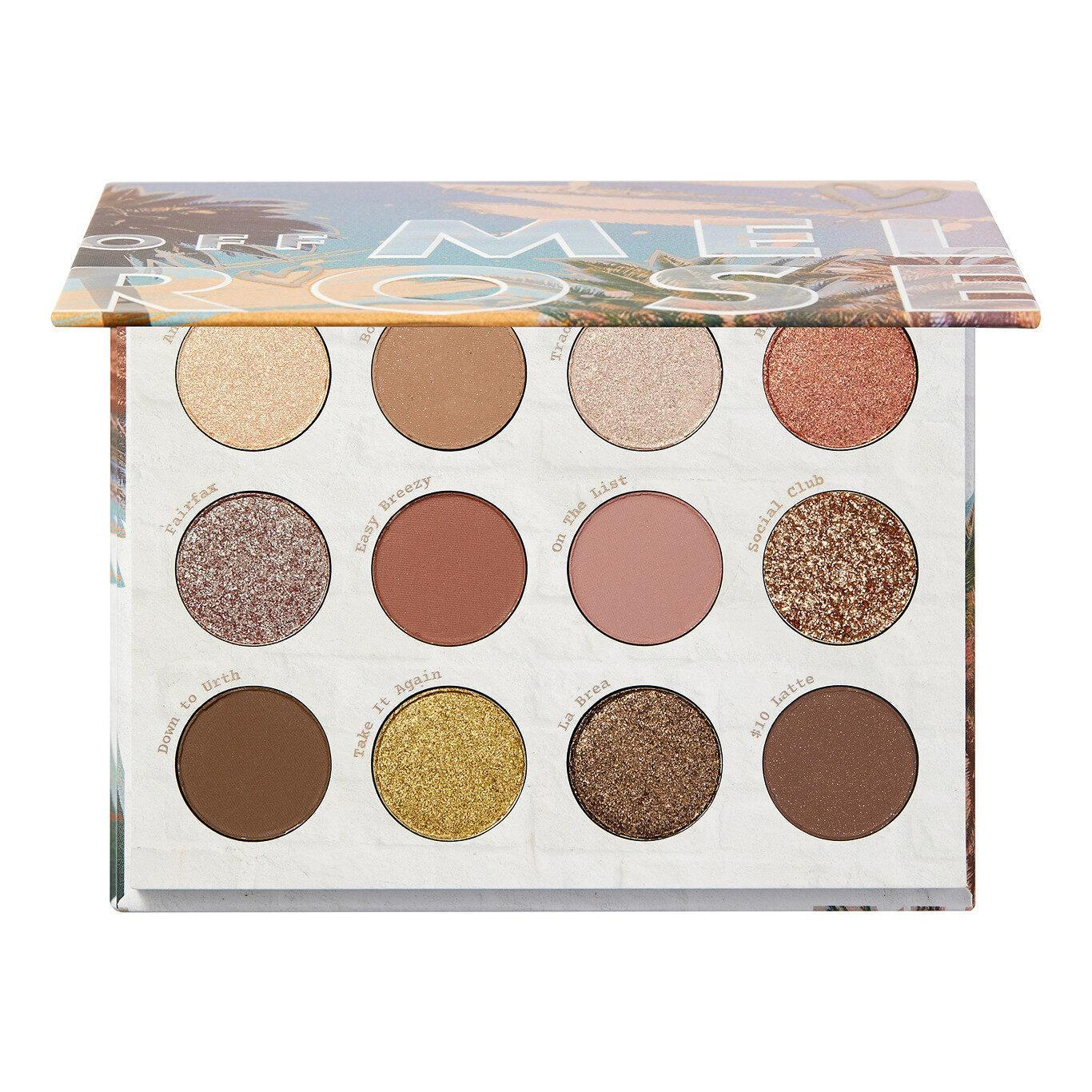 ColoutPop Cosmetics Melrose Collection Off Melrose Eyeshadow Palette Open