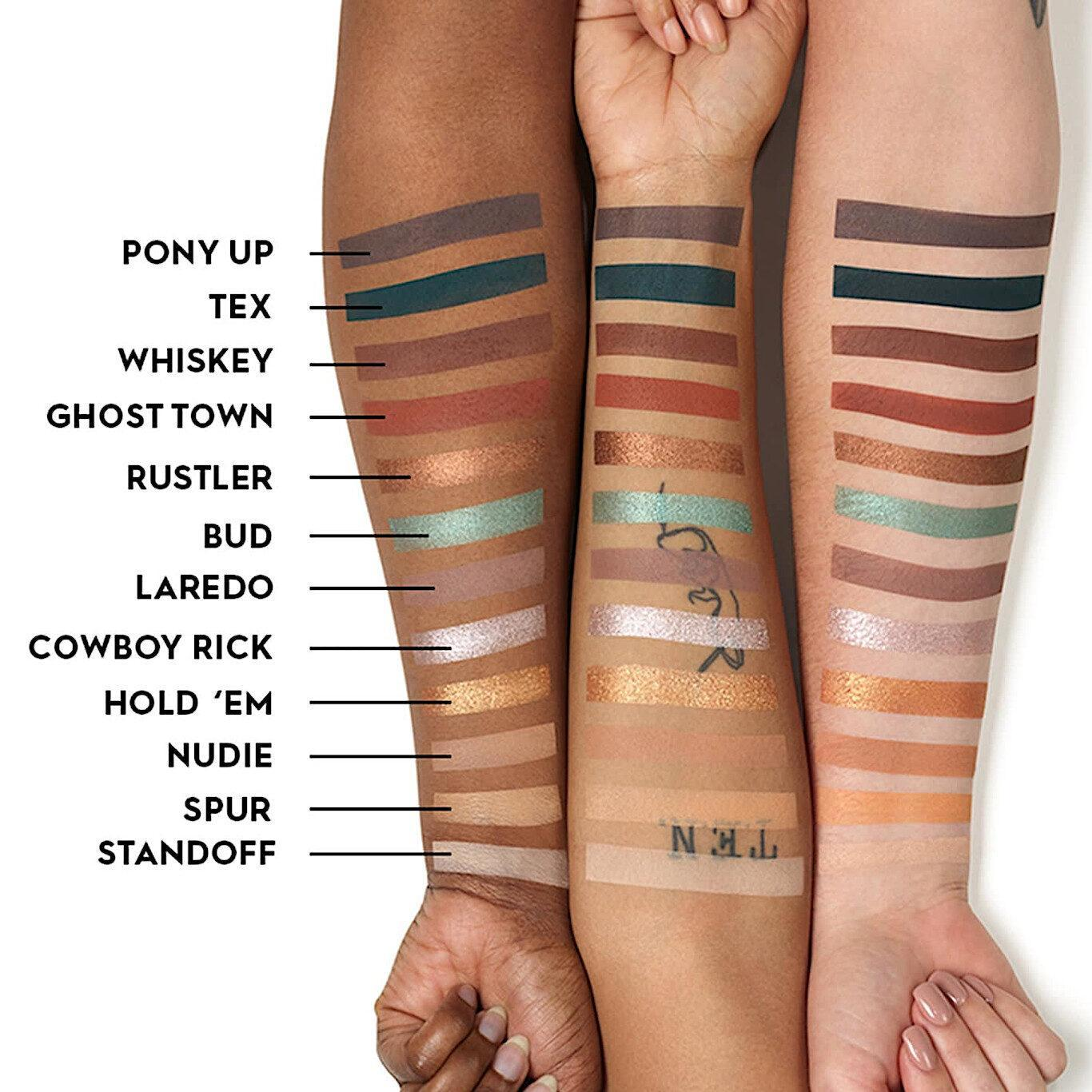 Urban Decay Naked Wild West Eyeshadow Palette Arm Swatches