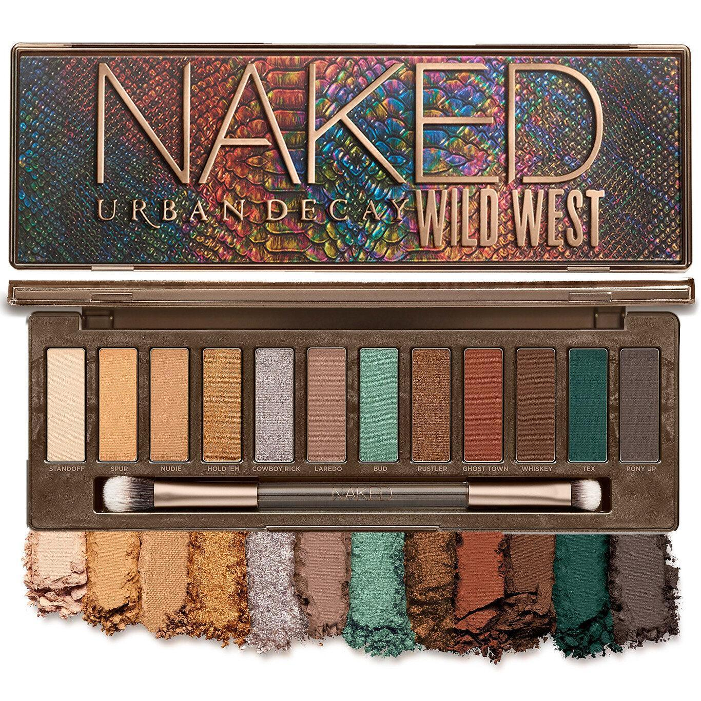 Urban Decay Naked Wild West Eyeshadow Palette Open, Closed & Crash Swatches