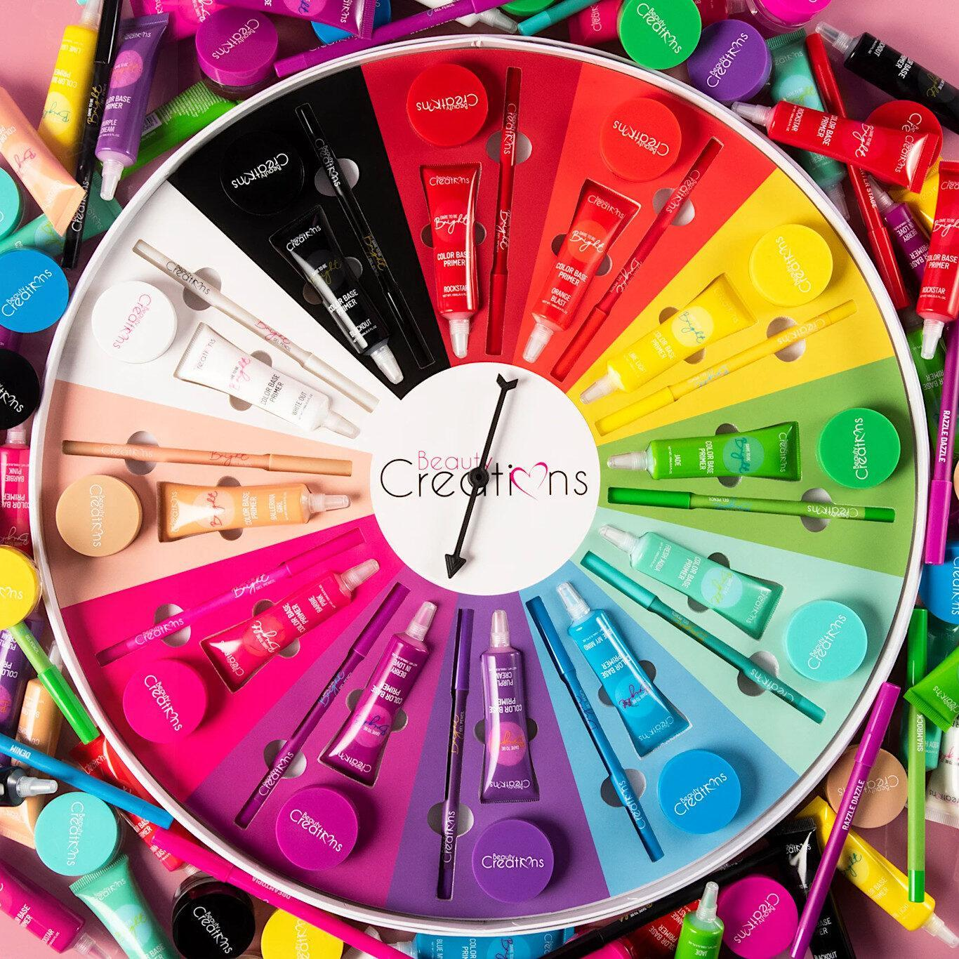 Beauty Creations Cosmetics Dare To Be Bright 2 Collection Dare to Be Bright Color Wheel PR Promo