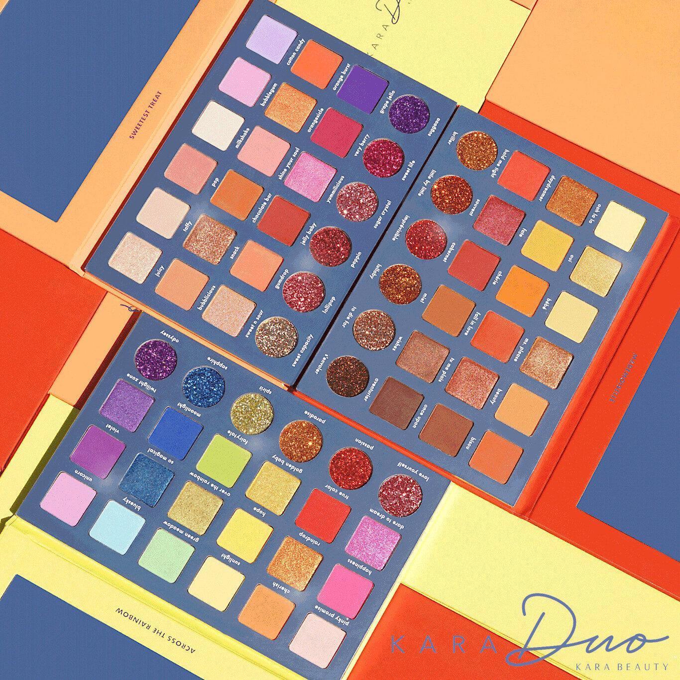 Kara Beauty Shadow + Glitter Palettes ES119, ES120 & ES121 Post Cover Logo