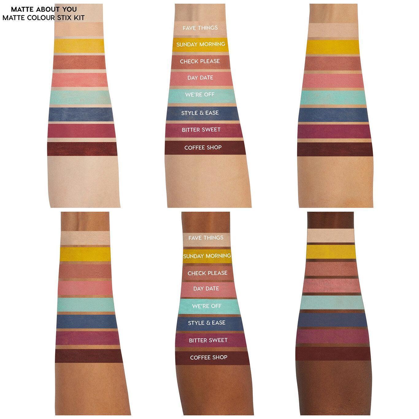 ColourPop Cosmetics Matte About You Eyeshadow Stix Kit Arm Swatches
