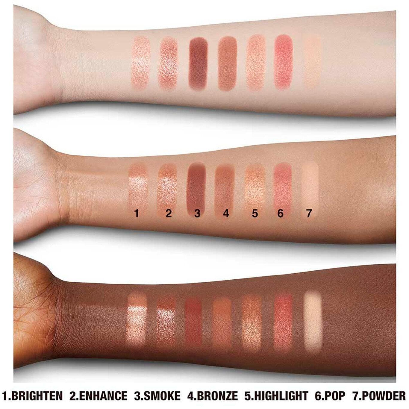 Look Of Love Instant Look In A Palette Glowing Beauty Arm Swatches