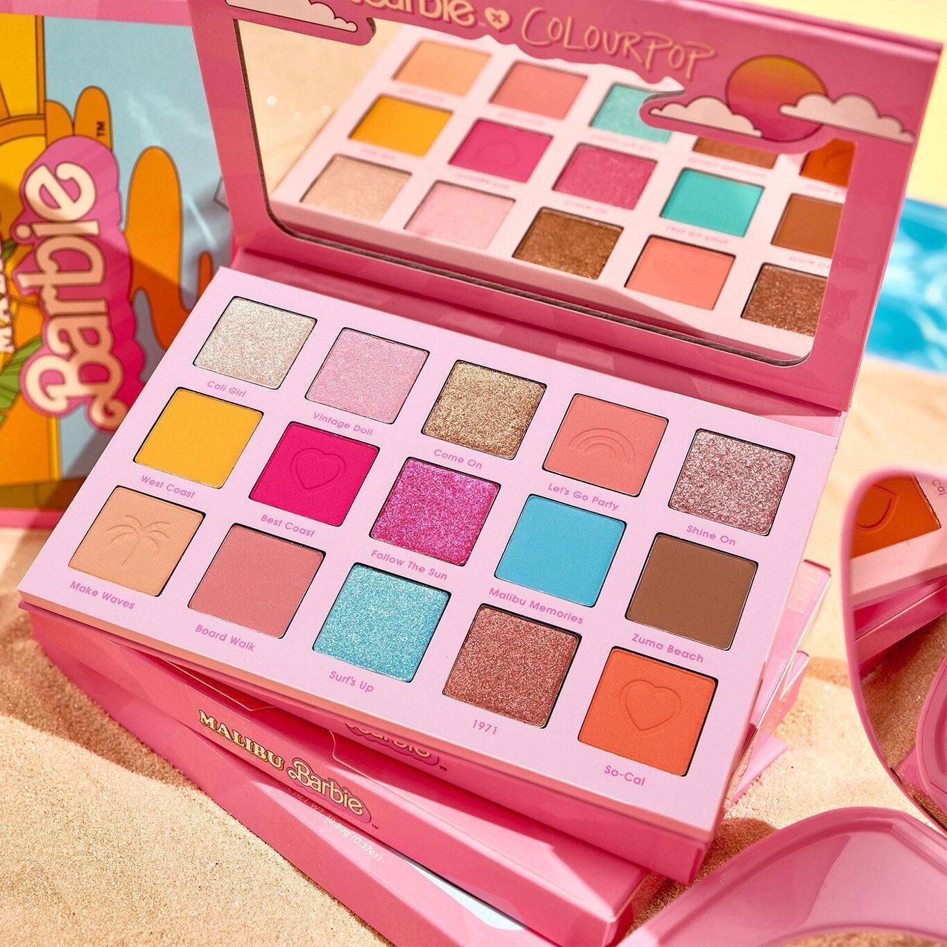 ColourPop x Malibu Barbie Eyeshadow Palette Promo