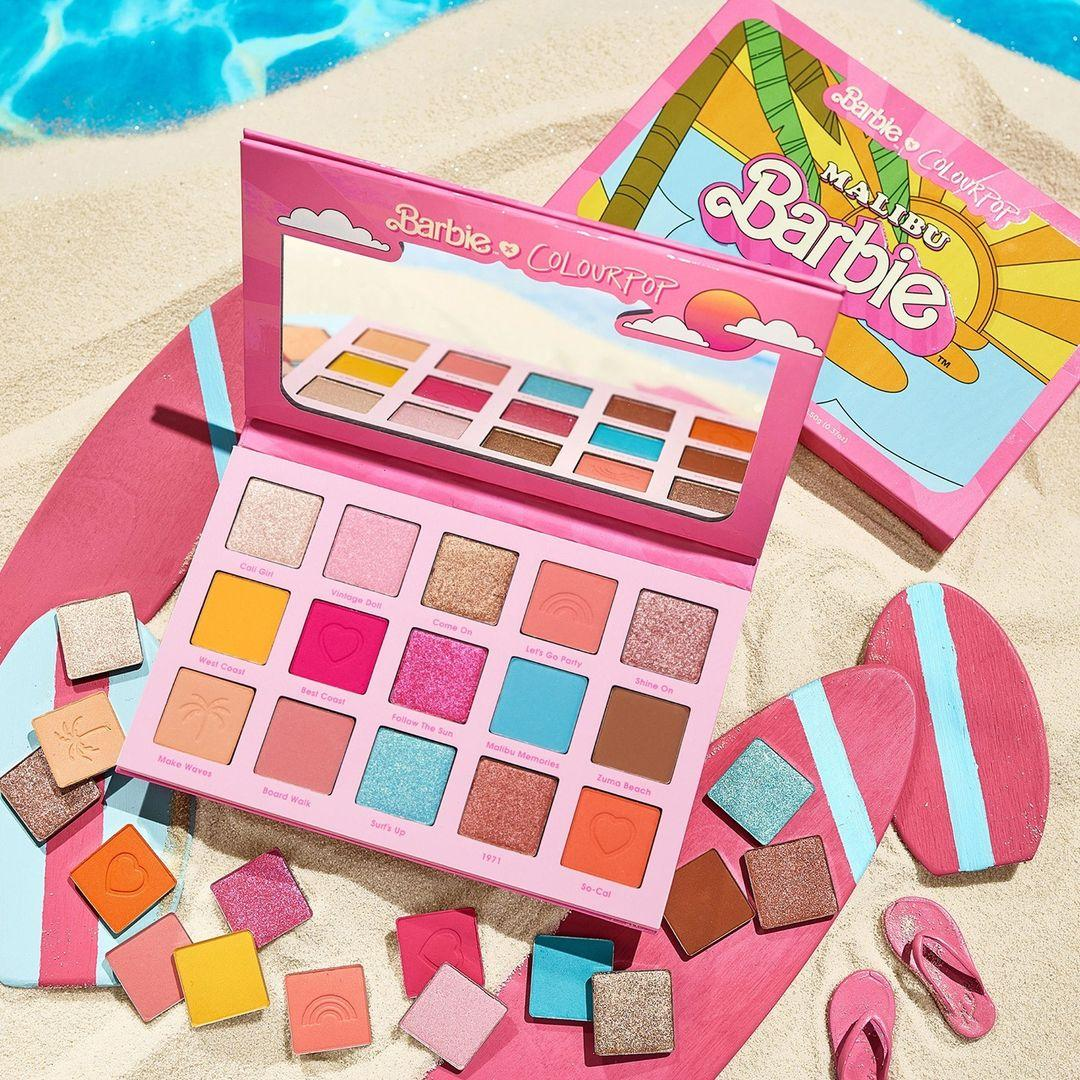 ColourPop x Malibu Barbie Eyeshadow Palette Promo With Pans