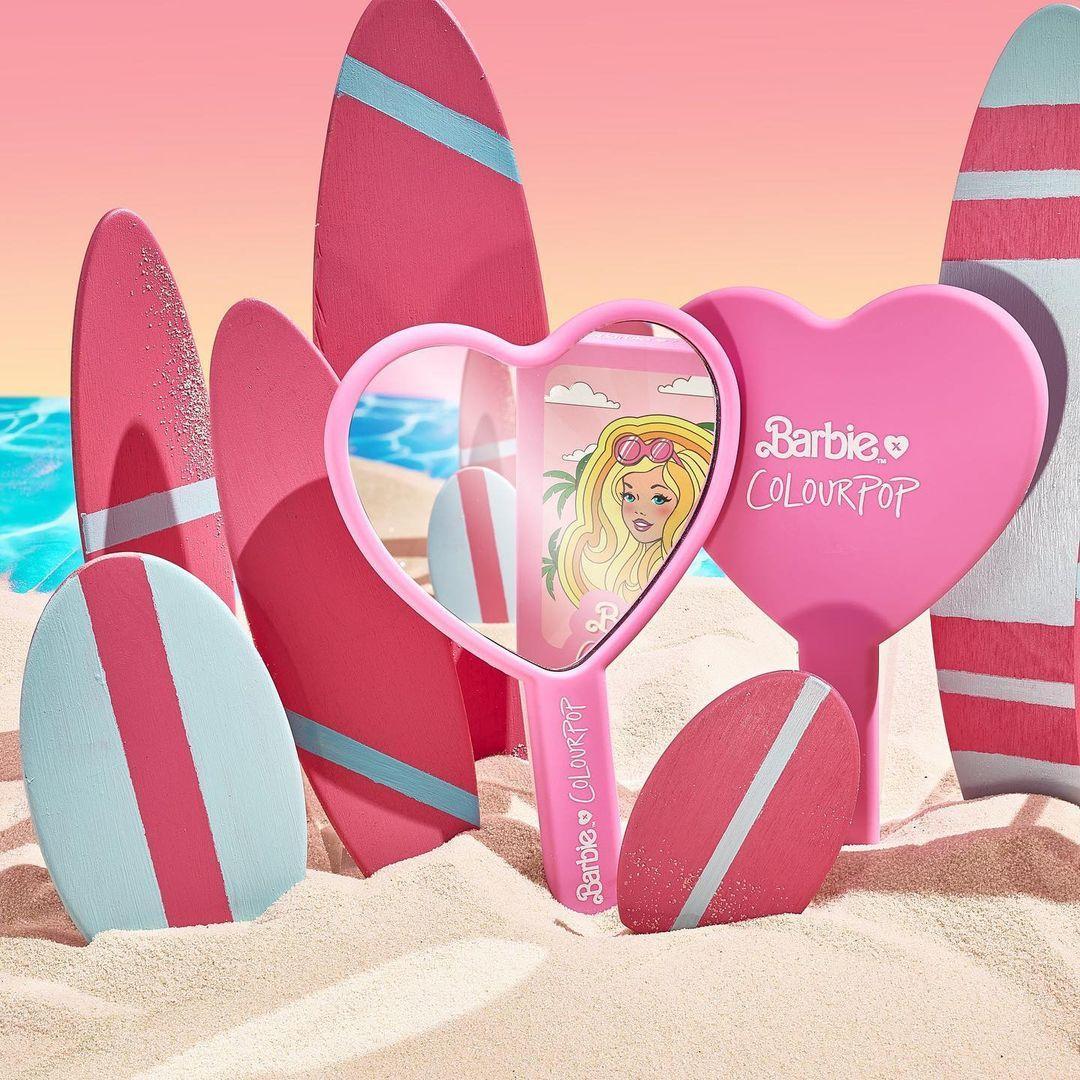 ColourPop x Malibu Barbie Hand Mirror Promo ALT