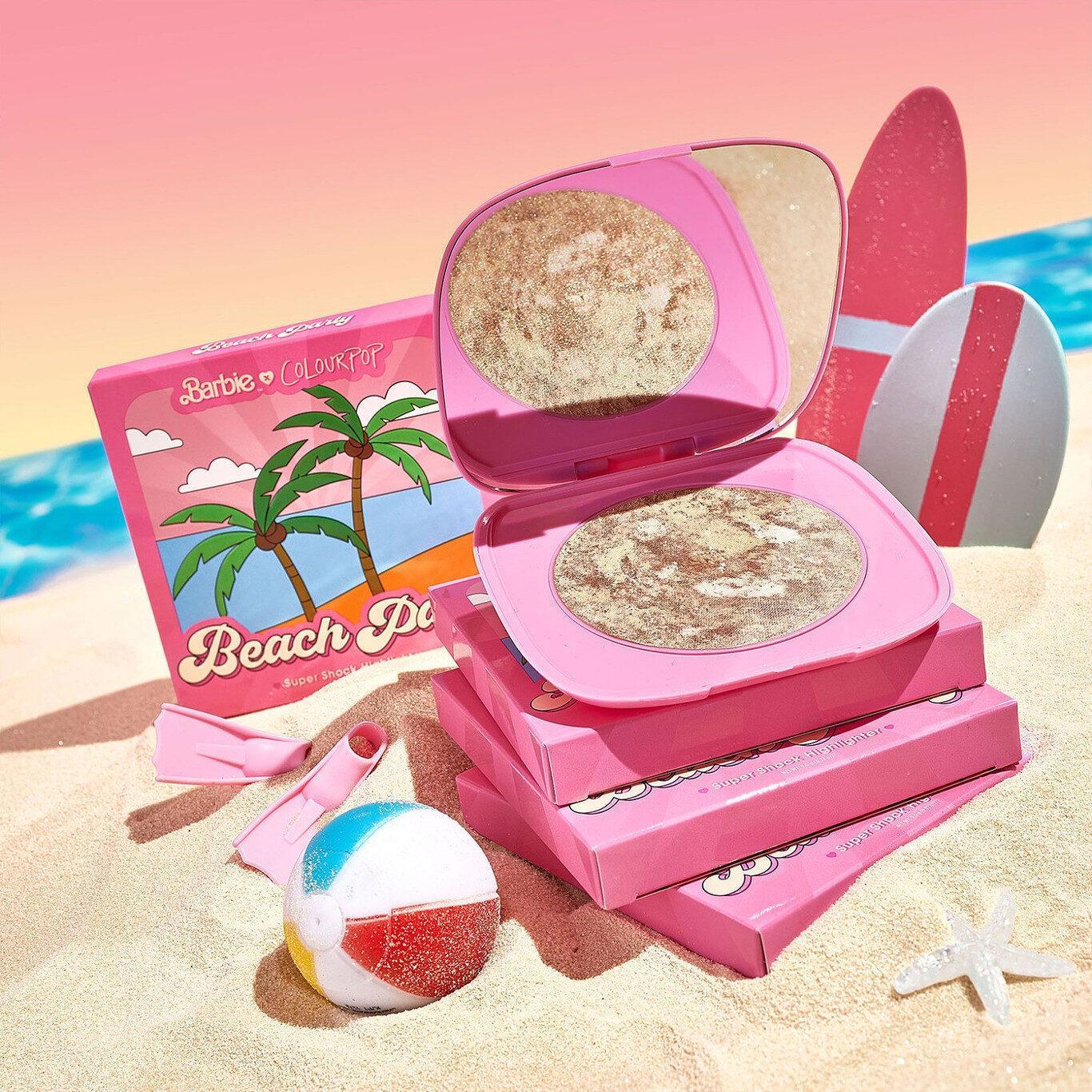 ColourPop x Malibu Barbie Super Shock Highlighter Promo