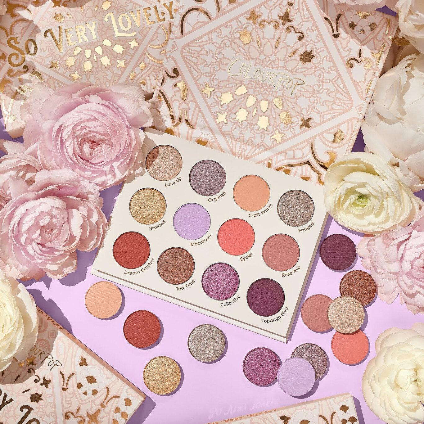 Colourpop So Very Lovely Collection So Very Lovely Pressed Powder Palette Promo