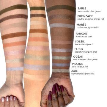 Jouer Cosmetics French Riviera Collection French Riviera Matte & Shimmer Eyeshadow Palette Arm Swatch