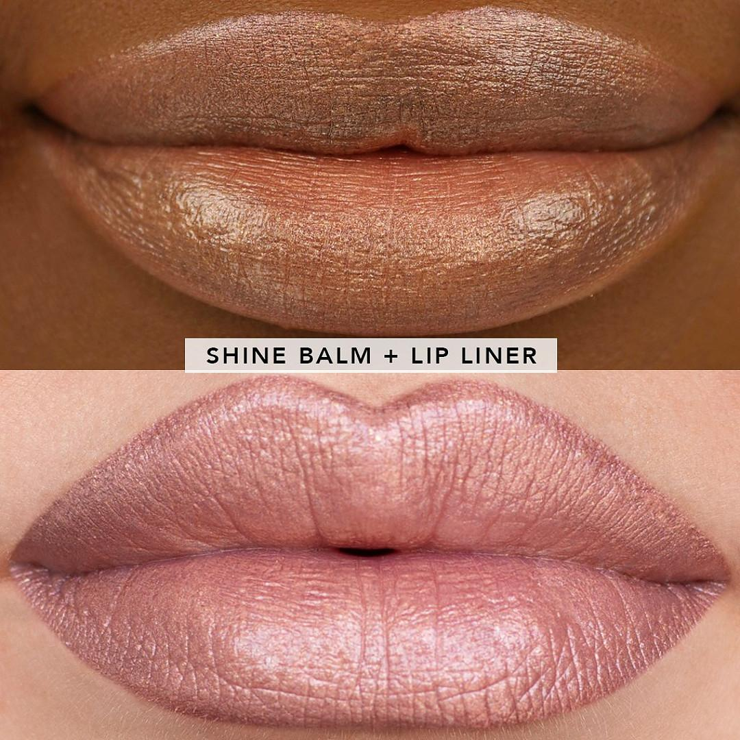 Jouer Cosmetics French Riviera Collection Honey Kiss Shimmer Lip Kit Lip Swatch