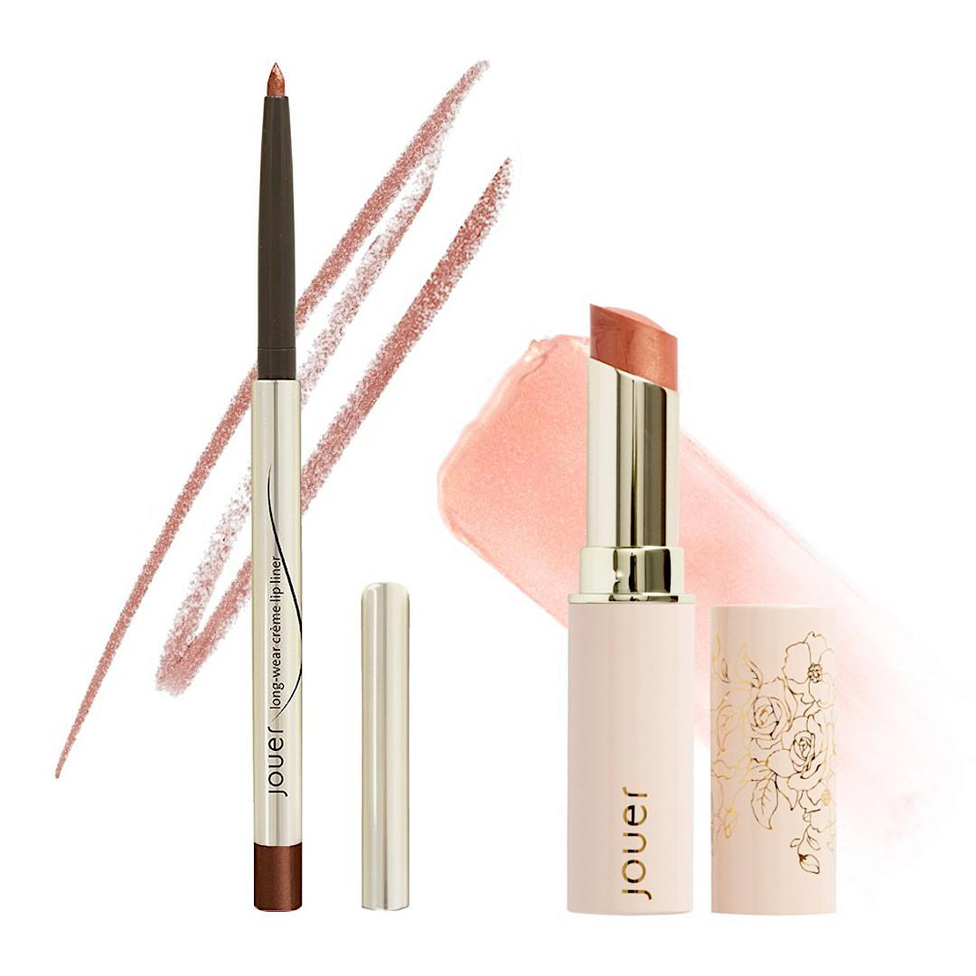 Jouer Cosmetics French Riviera Collection Honey Kiss Shimmer Lip Kit Open
